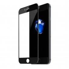 """Rūdīta stikla ekrāna aizsargs """"Baseus 0.23mm curved-screen glass crack-resistant"""" iPhone 8 Plus / iPhone 7 Plus Melns (SGAPIPH8P-GPE01) (gcl74)"""
