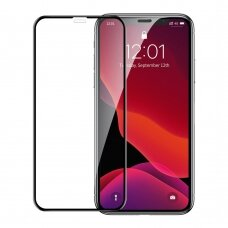 Baseus 0.23mm curved-screen tempered glass screen protector with crack-resistant edges For iPhone XR / iPhone 11 Black (SGAPIPH61-APE01)  (IPO11)