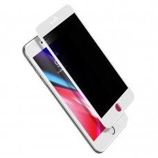 "Rūdīta stikla ekrāna aizsargs ""Baseus 0.23mm curved-screen glass anti-spy"" iPhone 8 Plus / iPhone 7 Plus Balts (SGAPIPH8P-ATG02) (gcl74)"