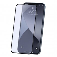Baseus 2x Full screen 0,23 mm Anti Blue Light tempered glass with a frame iPhone 12 Pro / iPhone 12 Black (SGAPIPH61P-TE01)