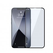 Baseus 2x Full screen 0,3 mm Anti Blue Light tempered glass with a frame iPhone 12 Pro / iPhone 12 Black (SGAPIPH61P-KB01)