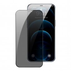 Baseus 2x Full screen 0,3 mm Anti Spy tempered glass with a frame iPhone 12 Pro Max (SGAPIPH67N-KT01) (case friendly)