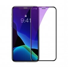 Baseus 2x full-screen curved anti-blue light tempered glass screen protector for iPhone 11 Pro Max / iPhone XS Max black (SGAPIPH65-WE01)  (IP11PRMX)