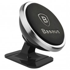 Baseus 360-Degree Universal Magnetic Car Mount Holder for Car Dashboard silver (SUGENT-NT0S) (HUTL) (hutl)
