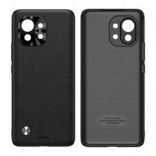 Baseus Alloy Leather Case durable case with a camera cover Xiaomi Mi 11 black (WIXM11-01)