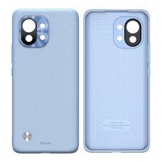Baseus Alloy Leather Case durable case with a camera cover Xiaomi Mi 11 purple (WIXM11-05)