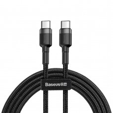 Baseus Cafule Cable Durable Nylon Braided Wire USB-C PD / USB-C PD PD2.0 60W 20V 3A QC3.0 1M black-grey (CATKLF-GG1) (HUTL) (hutl)