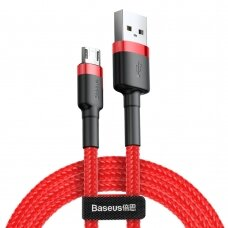 Baseus Cafule Cable Durable Nylon Braided Wire USB / micro USB QC3.0 1.5A 2M red (CAMKLF-C09) (HUTL) (hutl)