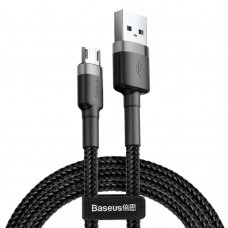 Baseus Cafule Cable Durable Nylon Braided Wire USB / micro USB QC3.0 2.4A 0,5M black-grey (CAMKLF-AG1) (HUTL) (hutl)