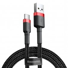 Baseus Cafule Cable Durable Nylon Braided Wire USB / USB-C QC3.0 2A 2M black-red (CATKLF-C91) (HUTL) (hutl)
