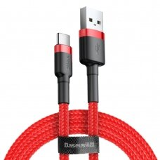Baseus Cafule Cable Durable Nylon Braided Wire USB / USB-C QC3.0 2A 3M red (CATKLF-U09) (HUTL) (hutl)