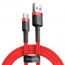 Baseus Cafule Cable Durable Nylon Braided Wire USB / USB-C QC3.0 3A 0,5M red (CATKLF-A09) (HUTL) (hutl)