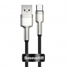 Baseus Cafule Series Metal Data USB - USB Typ C 40 W cable (10 V / 4 A) SCP (Huawei SuperCharge Protocol) 0,25 m silver (CATJK-01)