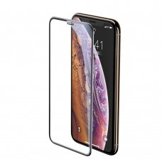 Baseus Full-screen Full Coverage 3D Tempered Glass Film with Speaker Dust Protector for Apple iPhone 11 Pro Max / iPhone XS Max black (SGAPIPH65-WA01)  (IP11PRMX)