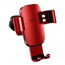 Baseus Metal Age Gravity Car Mount Phone Holder for Air Outlet red (SUYL-D09) (HUTL) (hutl)