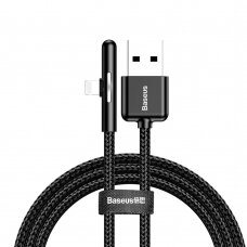 Baseus Mobile Game Elbow Cable USB Lightning with Nylon Braid 2.4A 1m black (CAL7C-A01) (HUTL) (hutl)