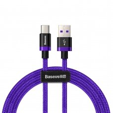 Baseus Purple Gold Red USB / USB-C Cable with Nylon Braid SuperCharge 40W Quick Charge 3.0 QC3.0 1M purple (CATZH-A05)