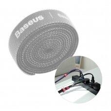 Baseus Rainbow Circle Velcro Straps to organizing cables 1m Gray (ACMGT-E0G) (HUTL) (hutl)