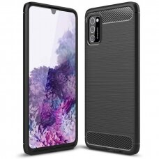 Carbon Case Flexible Cover TPU Case for Oppo A92 / A72 / A52 black