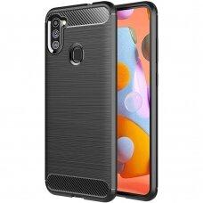 Carbon Case Flexible Cover TPU Case for Samsung Galaxy A11 / M11 blue