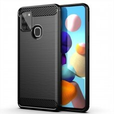 Carbon Case Flexible Cover TPU Case for Samsung Galaxy A21S black