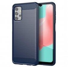 Carbon Case Flexible Cover TPU Case for Samsung Galaxy A32 4G blue