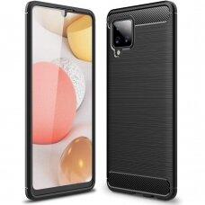 Carbon Case Flexible Cover TPU Case for Samsung Galaxy A42 5G black