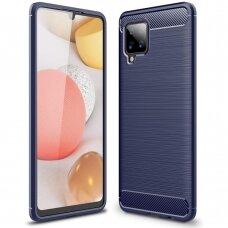 Carbon Case Flexible Cover TPU Case for Samsung Galaxy A42 5G blue
