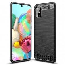 Carbon Case Flexible Cover TPU Case for Samsung Galaxy A51 5G black