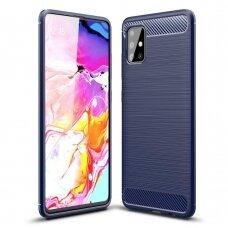 Carbon Case Flexible Cover TPU Case for Samsung Galaxy A51 5G blue