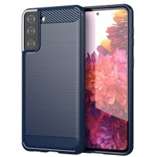Carbon Case Flexible Cover TPU Case for Samsung Galaxy S21+ 5G (S21 Plus 5G) blue