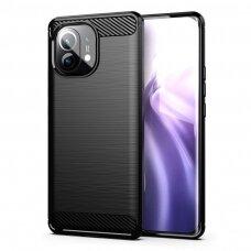 Carbon Case Flexible Cover TPU Case for Xiaomi Mi 11 black