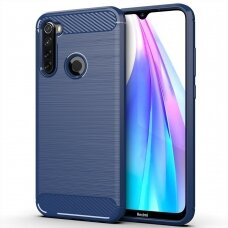 Carbon Case Flexible Cover TPU Case for Xiaomi Redmi Note 8T blue (XRN8T)