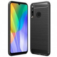 Case Carbon Lux Huawei Y6P black