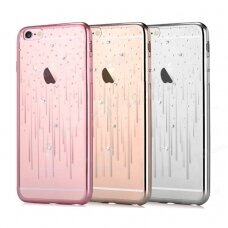 Case Devia Meteor Crystal Apple iPhone X/XS silver