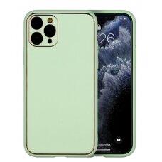 Case Gold Line Apple iPhone XR light green