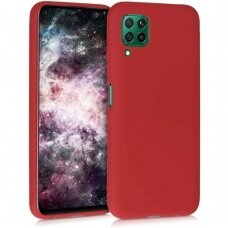 Case Liquid Silicone 1.5mm Huawei P40 Lite red