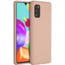 Case Liquid Silicone 1.5mm Samsung A41 A415 pink