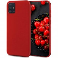 Case Liquid Silicone 1.5mm Samsung A515 A51 red