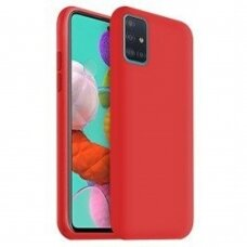 Case Liquid Silicone 1.5mm Samsung A715 A71 red