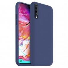 Case Liquid Silicone 2.0mm Samsung A705 A70 dark blue