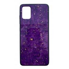 Case Marble Samsung A515 A51 violet