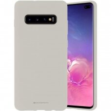 Case Mercury Silicone Case Samsung G975 S10 Plus stone color