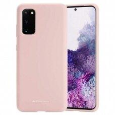 Case Mercury Silicone Case Samsung G981 S20 pink sand