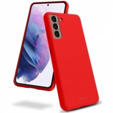 Case Mercury Silicone Case Samsung S21 red