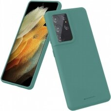 Case Mercury Silicone Case Samsung S21 Ultra dark green