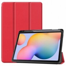 Case Smart Leather Samsung T970/T976 Tab S7 Plus 12.4 red
