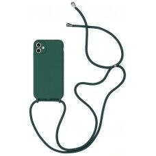 Case Strap Silicone Case Apple iPhone 12 Pro Max dark green