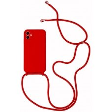 Case Strap Silicone Case Apple iPhone 12 Pro Max red