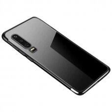 Clear Color Case Gel TPU Electroplating frame Cover for Huawei P Smart Pro / Huawei Y9s black (HWPSMT)